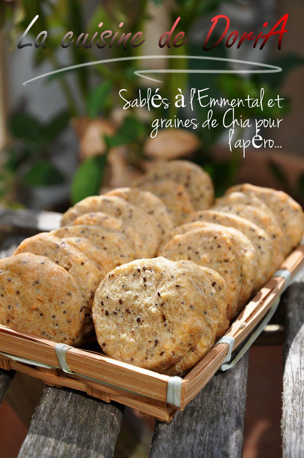 Sablés à l'Emmental, graines de Chia et huile d'olive aromatisée à la Truffe