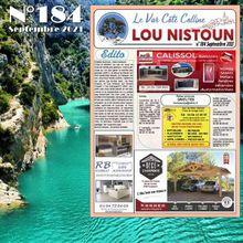 Local Var : Lou Nistoun n°184 - Septembre 2021, le gratuit des entreprises est paru