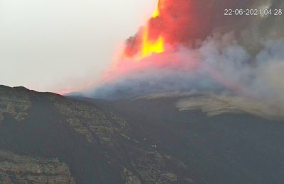 The eruptive episodes follow one another at Etna and Suwanosejima.