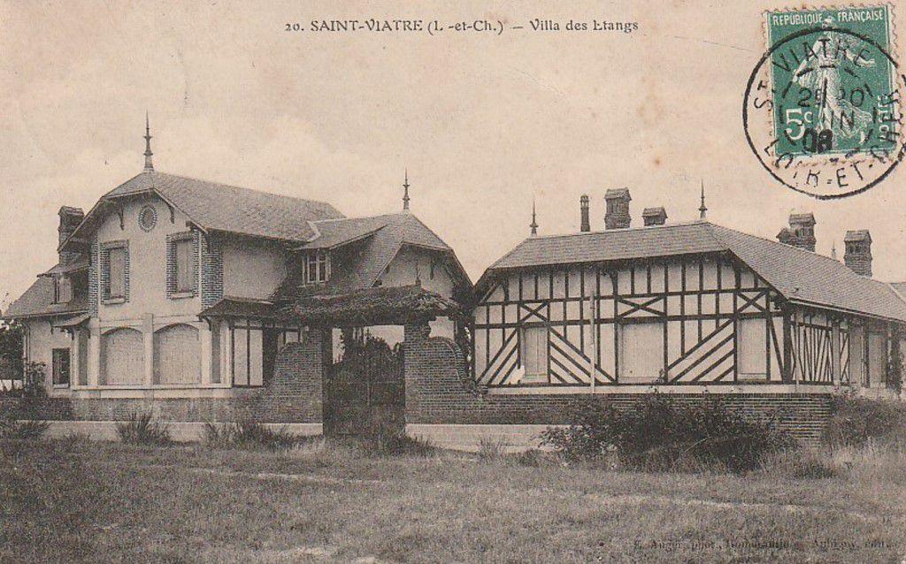 Villa des Etangs en 1900.