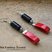 Noir Leather earrings tutorial | Jewels of sayuri