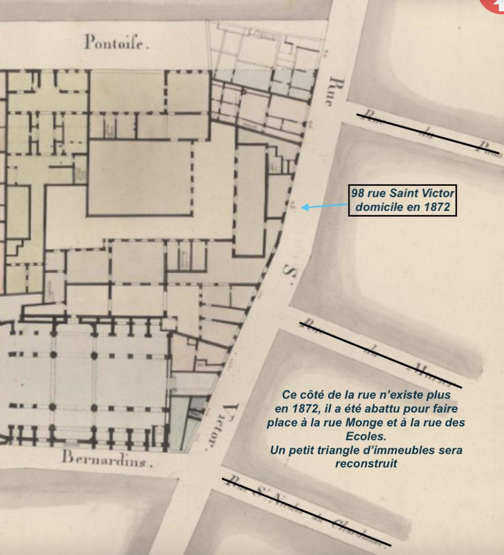 A partir des anciens plans parcellaires du site : archives.paris.fr