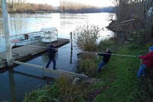 Mise en sécurité du ponton pour l'hiver