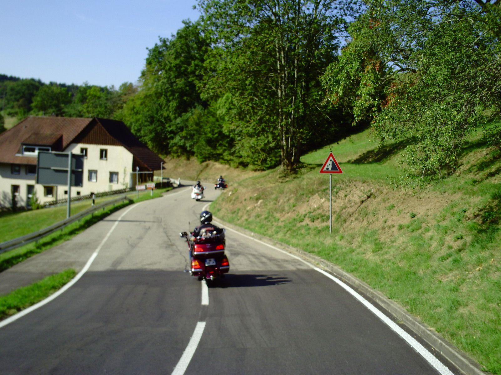 Goldwing Unsersbande - Ballade vers Freiburg im Breisgau