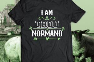 T-shirt France - Basse et Haute Normandie - Humour - I'am a trou Normand.
