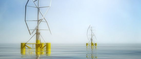 Éolienne offshore flottante à axe verticale, pari technologique en Méditerranée, l'énergie du vent autrement.