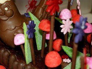 Petit jardin de Pâques au chocolat