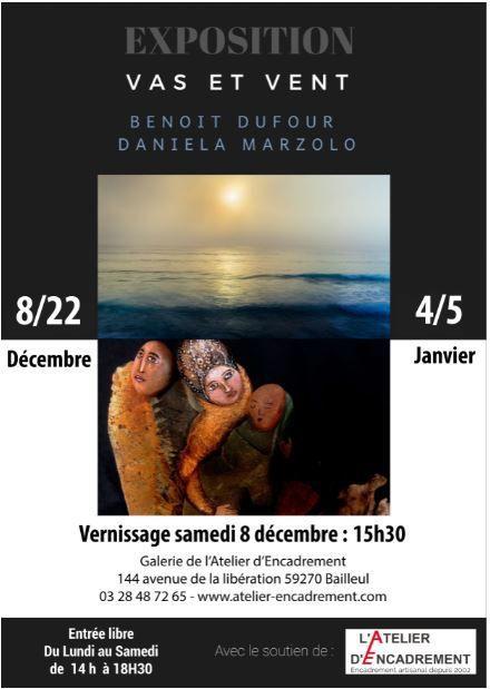 Benoit Dufour et Cayu exposent à la galerie de l'Atelier en Décembre