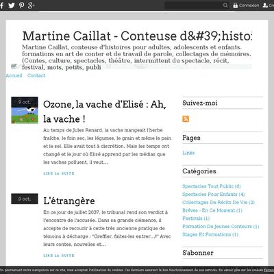 Martine Caillat - Conteuse d'histoires
