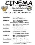Programme du cinéma à Lorgues début juin 2015