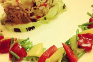 Riz complet et légumes du soleil