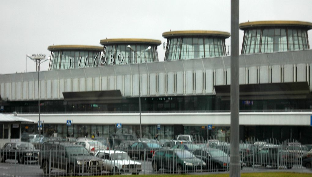 L'aéroport de Saint-Petersbourg, Russie.