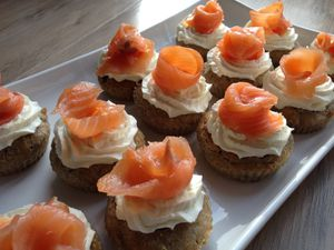 Cupcake au saumon fumé