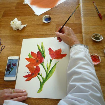 stage de peinture a tempera pour senfants et/ou adultes