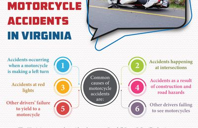 Common Causes of Motorcycle Accidents in Virginia