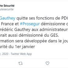 Séisme au GES: Fiducial et Prosegur claque la porte, et Frédéric Gauthey quitte la présidence de Prosegur France
