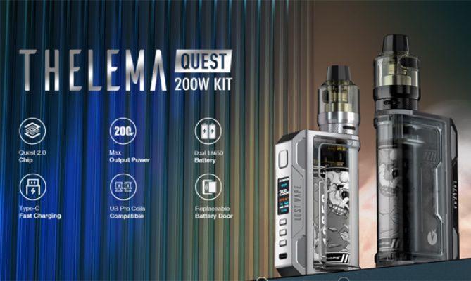 Test - Box - Clearomiseur - Kit Thelema Quest 200W de chez Lost Vape