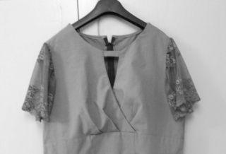Ma robe grise terminée