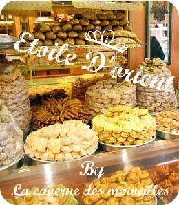Ma participation au concours Etoiles d'Orient : Mkhabez au flan et noisette et Chamiya pistaches (petites pâtisseries)