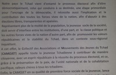 Soucieux de la paix au Tchad: le CAMOJET lance un vibrant appel aux acteurs politiques