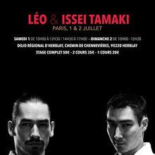 Léo et Isseï Tamaki à Paris, 1 et 2 juillet