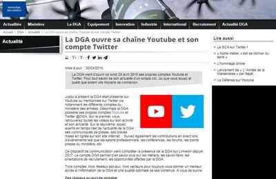 La DGA ouvre sa chaîne Youtube et son compte Twitter