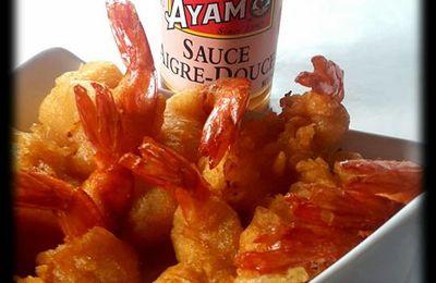 Beignets de Crevettes (pâte à beignets à la pâte de Curry jaune)