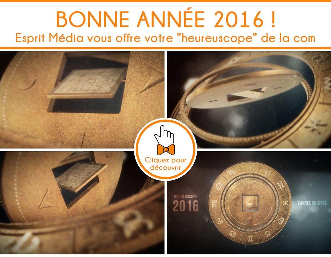 Happy new year avec l'Heureuscope 2016 d'Esprit Média !