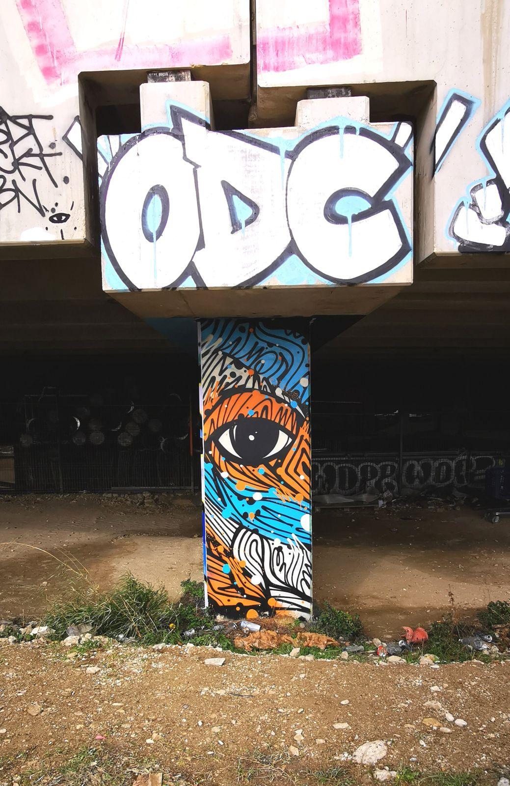 Galerie street art à ciel ouvert: Spot 13 à Paris 13