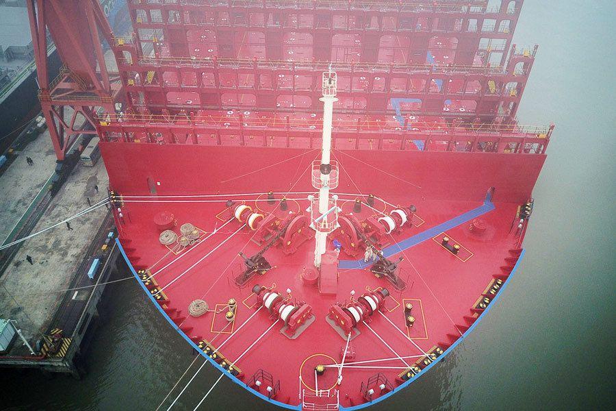 La Chine livre son premier porte-conteneurs de 20 000 EVP