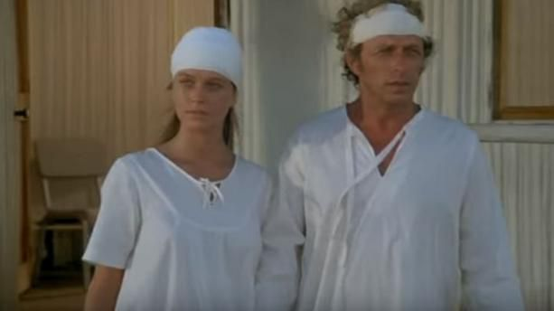 "Photo du film ""La Chèvre"", Corinne Charby, Pierre Richard"