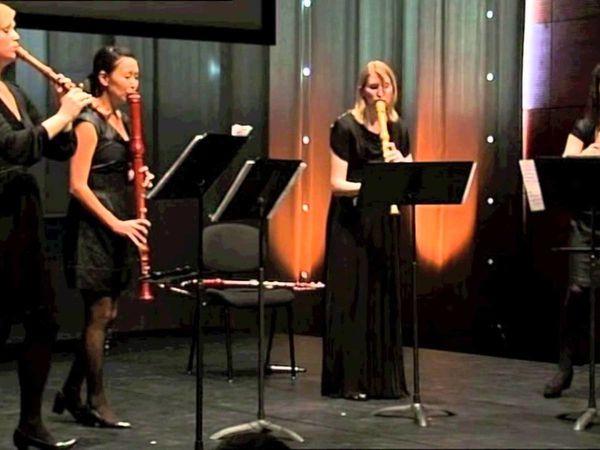 woodpeckers recorder quartet, un quatuor musical féminin à base de flûtes diverses à la musicalité enjouée
