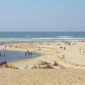 L'embouchure du courant de Huchet, dune, sable, bois et rochers - Hélène SF