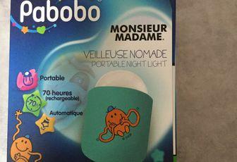 TEST de la VEILLEUSE NOMADE MONSIEUR ET MADAME PABOBO