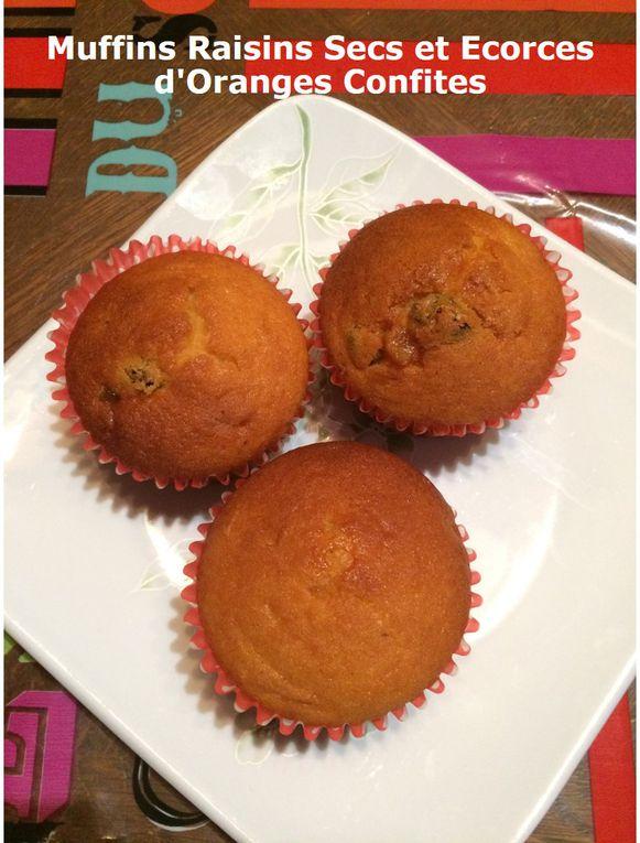 Muffins Raisins Secs et Ecorces d'Oranges Confites
