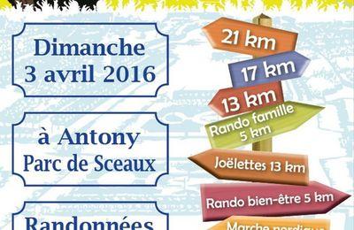 Sortie journée Rando pour tous Sceaux et environs dimanche 3 avril 2016 17 km