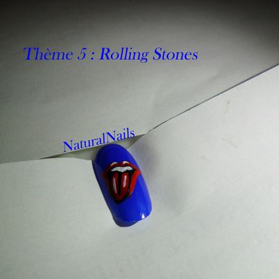 nail art rolling stones