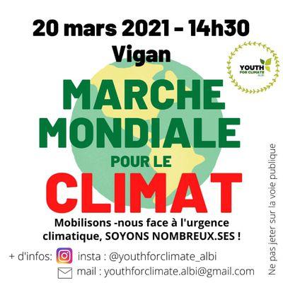 Samedi 20 mars 2021 à Albi : climat