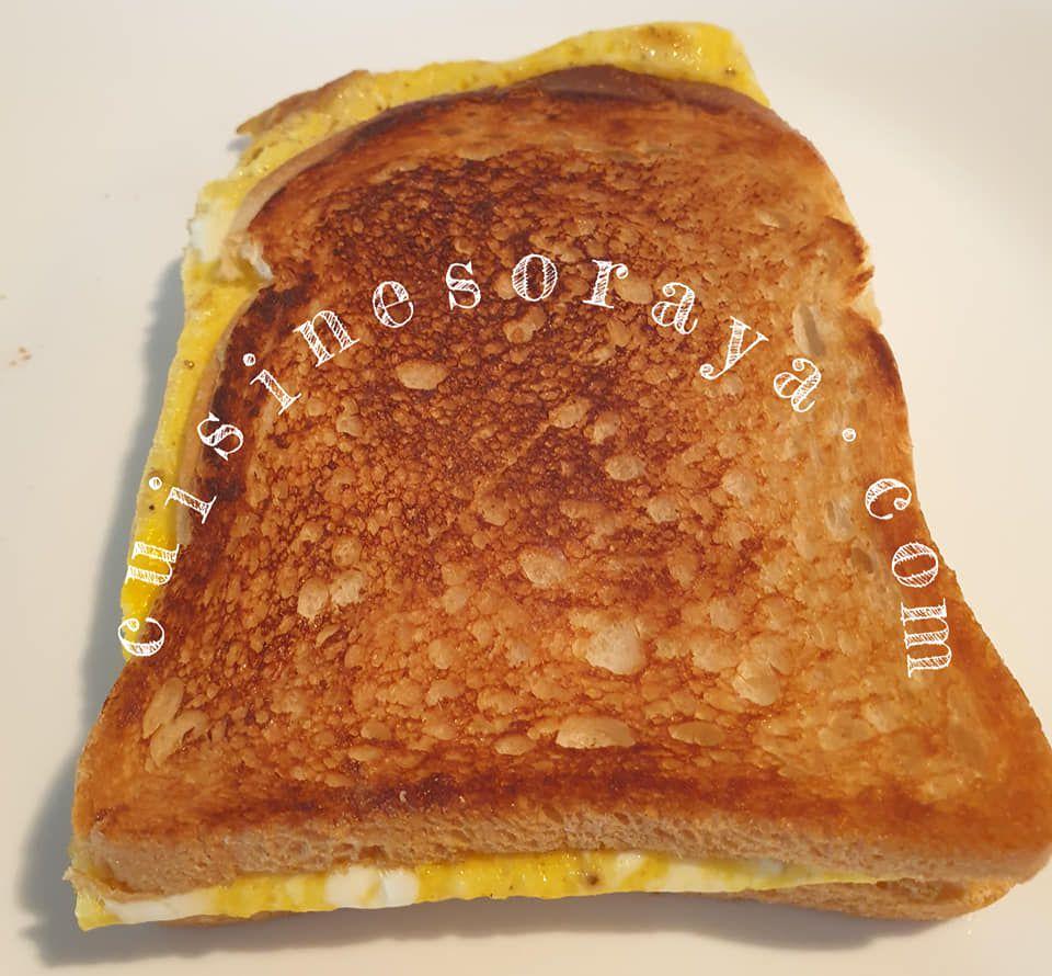 Croque omelette à la poêle express