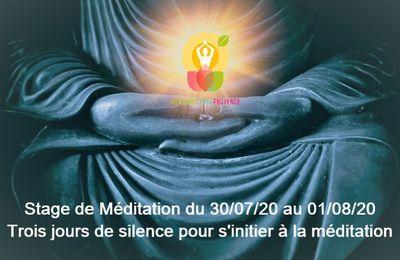 Stage Méditation : juillet-août 2020