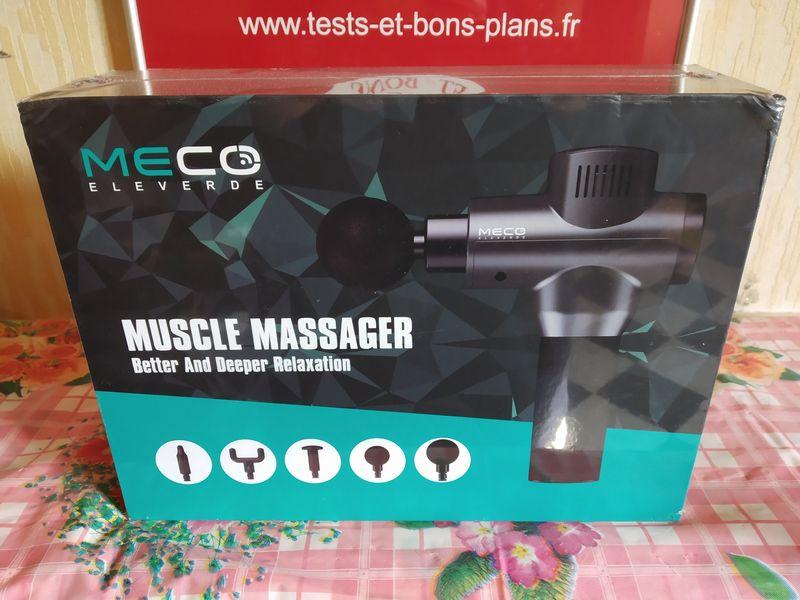 unboxing du pistolet de massage musculaire (Massage Gun) MECO Eleverde @ Tests et Bons Plans