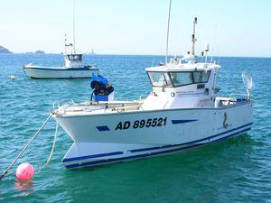 Les ligneurs du raz de Sein (bateaux des pêcheurs de bars)