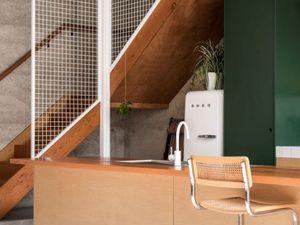 Les meubles de cuisine en vert
