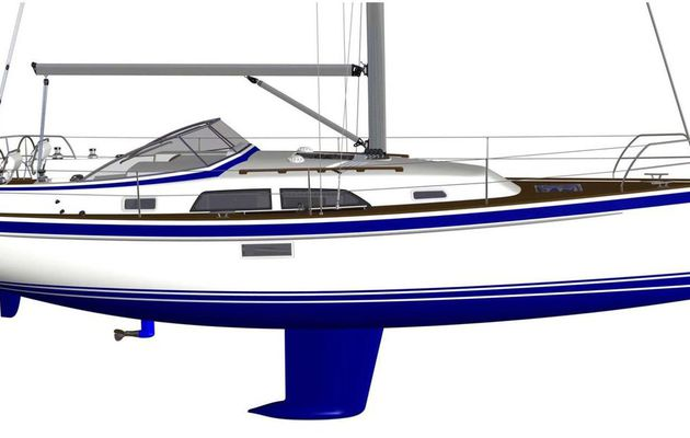 The all-new Hallberg Rassy 340 unveiled in August, at Orust Open Yard Sailboat Show