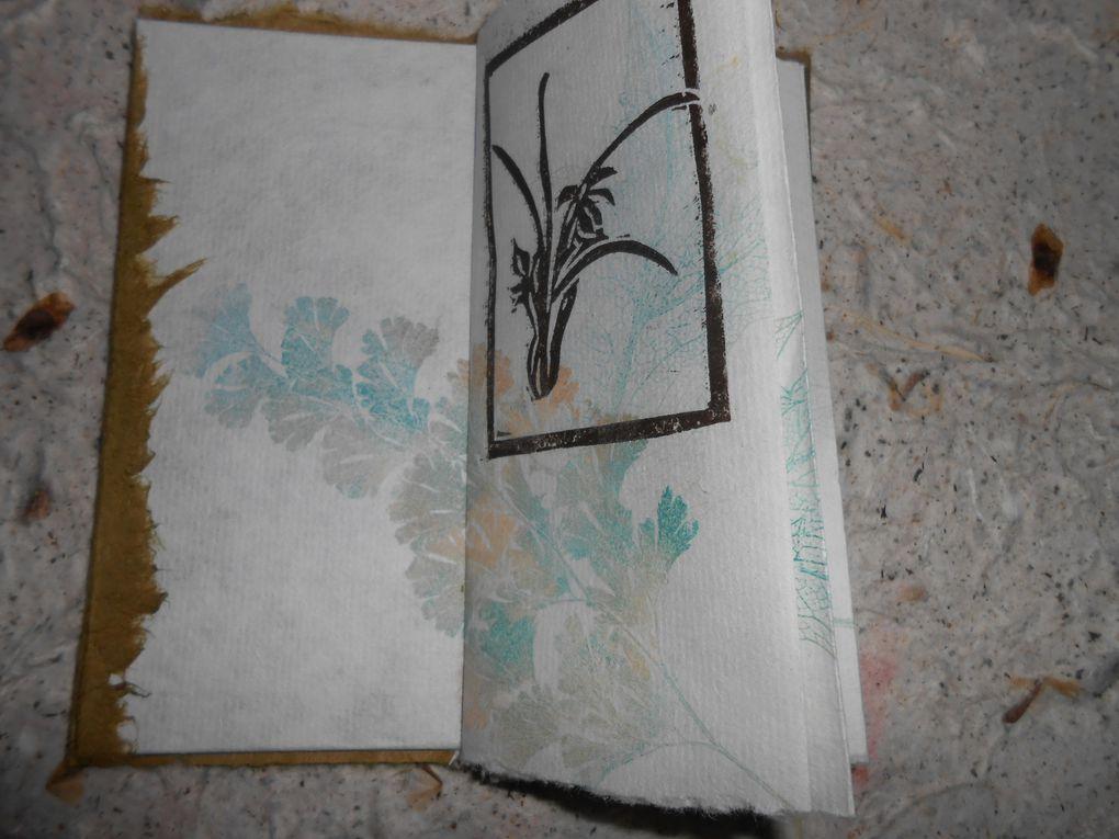 gravures et monotypes sur papier japon