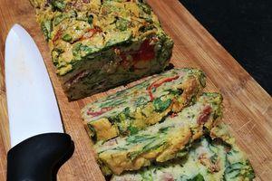 Cake salé Épinards, Courgettes, Bacon, Poivrons ~sans gluten, sans lactose~