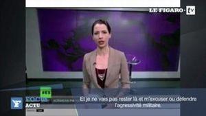 Buzz: Une journaliste de Russia Today critique en direct l'occupation en Crimée (video)