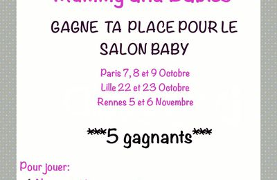 CONCOURS SALON BABY ⭐️⭐️⭐️