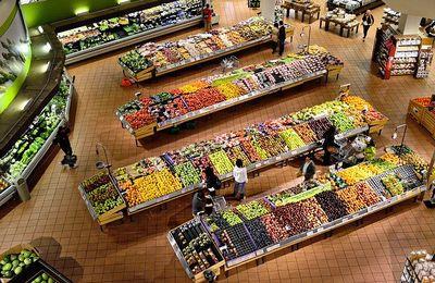 Distribution: Les chiffres d'un supermarché alimentaire.