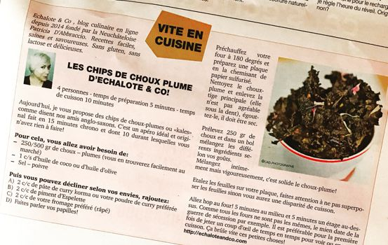 Les chips de Choux Plume d'Echalote& Co
